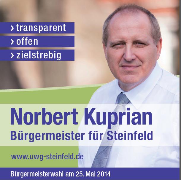 Norbert Kuprian - Bürgermeister für Steinfeld